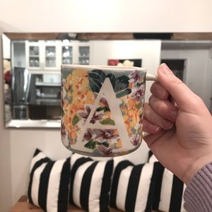 Anthropologie Letter A Monogram Mug
